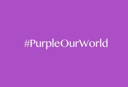 #PurpleOurWorld